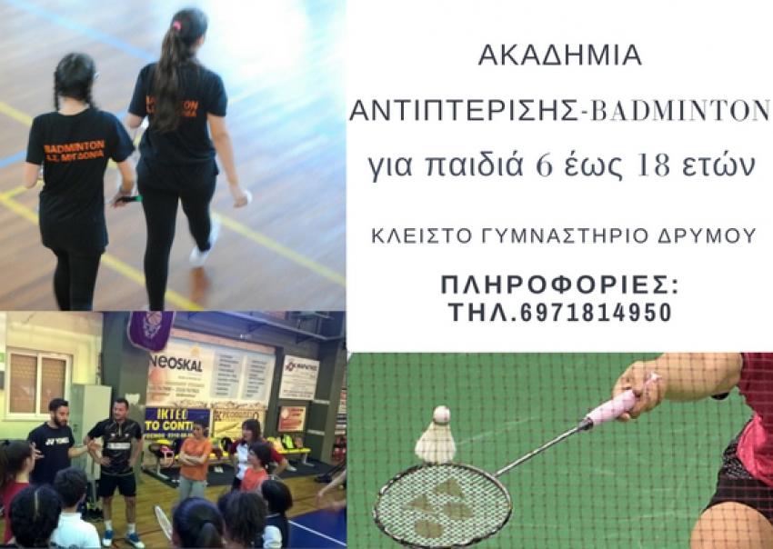 Ακαδημία Αντιπτέρισης-Badminton